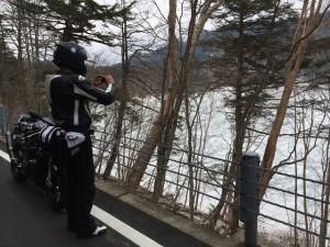 凍った湖withS1000RR
