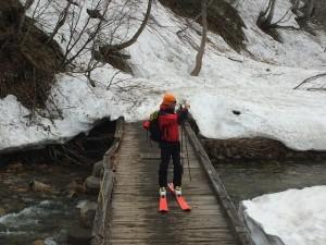 木道をスキーで歩くの巻2