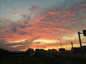 多摩サイからの夕日