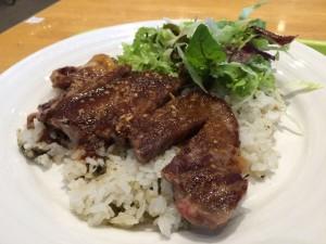 野沢菜ビーフステーキライス
